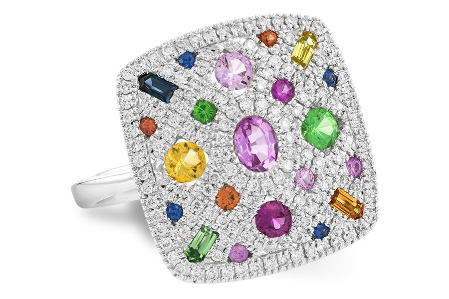 Diamond & Color Gems Ring