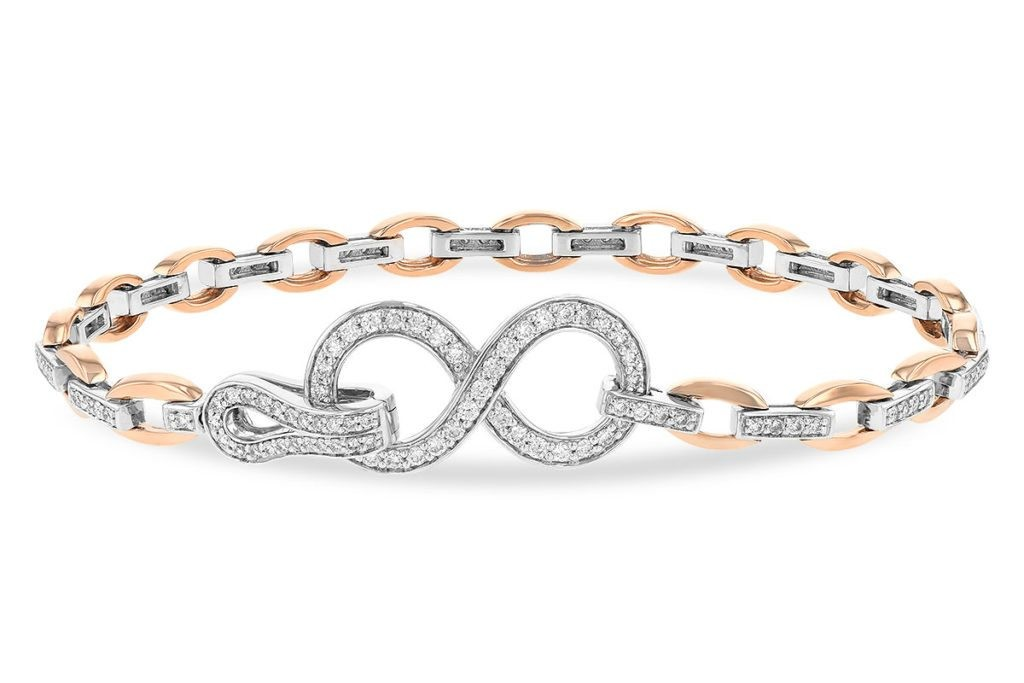 Rose Gold & Diamond Infinity Bracelet