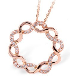 Rose Gold & Diamond Circle Pendant