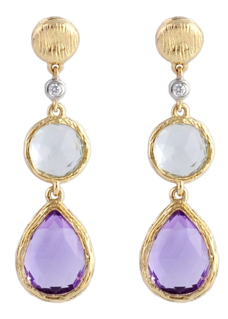Purple & Green Amethyst Earrings