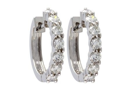 Hinged Hoop Diamond Earrings