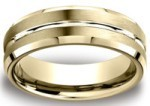 Yellow Gold Beveled Band