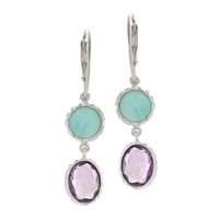 Amethyst & Amazonite Drop Earrings