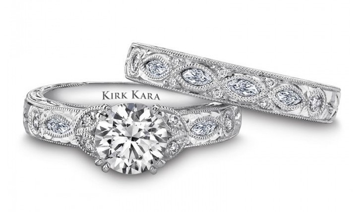 Dahlia Engagement Ring by Kirk Kara