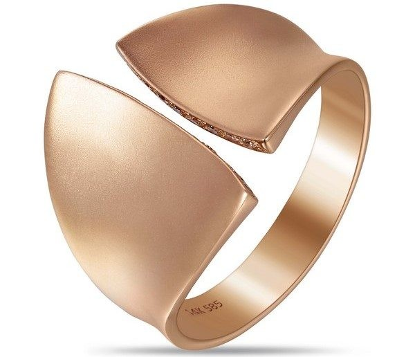 Contemporary Rose Gold and Diamond Ring