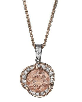 Morganite & Rose Gold Pendant