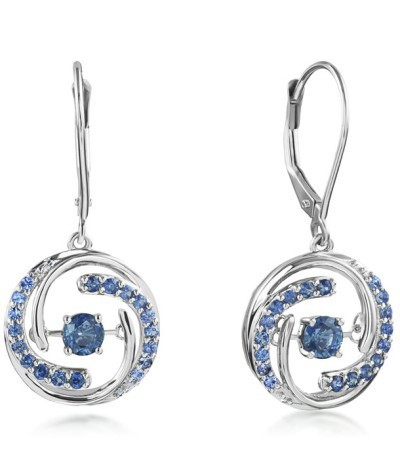 Sapphire Heart Throb Earrings