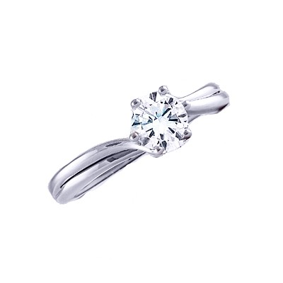 SPLIT SHANK SOLITAIRE RING WITH 6 PRONG HEADS