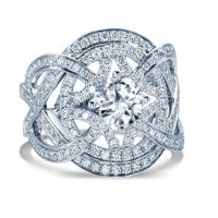 WHITE FANCY DIAMOND ENGAGEMENT RING 1.21CT TW (NOT INCLUDING CENTER STONE)