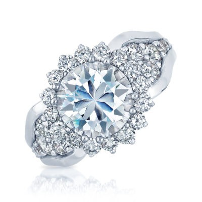 1.39CT TW DIAMOND ENGAEMENT RING (NOT INCLUDING CENTER)