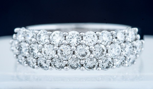 3 Row Diamond Anniversary Band