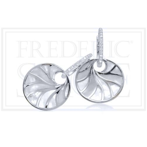 Venus Mother of Pearl & Diamond Earrings