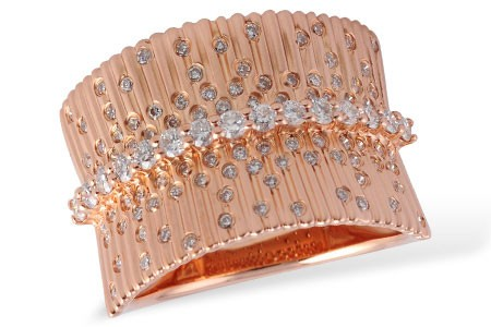 14K Yellow or Pink Gold 0.67CT TW Diamond Band Ring