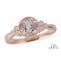 Morganite & Rose Gold Ring