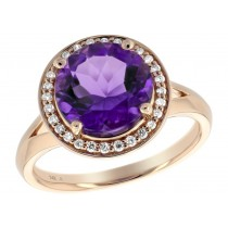 Amethyst & Rose Gold Ring