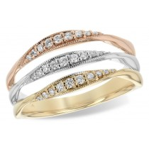 Tri Color Gold & Diamond Ring