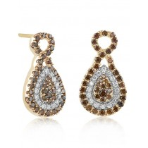 Diamond & Rose Gold Earrings