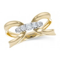 14K Yellow, White or Pink Gold 0.20CT TW Diamond Ring
