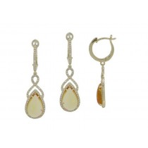 Cabochon Citrine Dangle Earings
