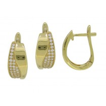 Diamond Hinged Hoop Earings
