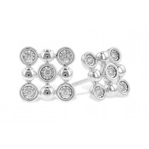 14K Yellow, White or Pink Gold 0.14CT TW Champagne Bubble Stud Earrings