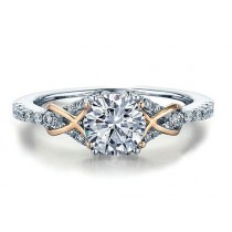 Rose and White Gold Engagement Ring