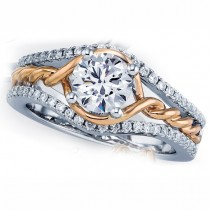 Rose Gold Engagement Ring with a Twist