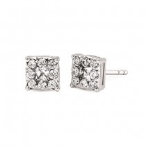 I Cherish™ 1/2 Ctw. Diamond Square Shape Stud Earrings In 14K Gold