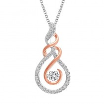 Dazzling Diamond and Rose Gold Pendant