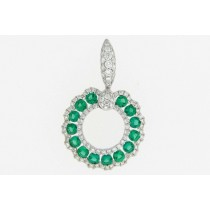 Emerald Circle of Love Pendant