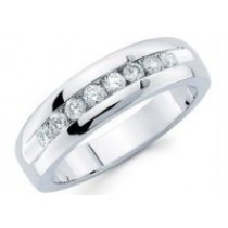 8 Diamond Channel Set Band