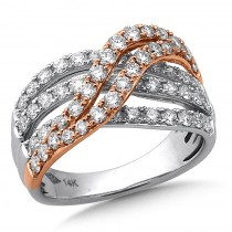 Bands of Gold & Diamond Ring
