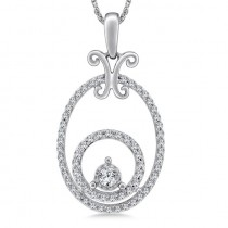 Circle & Oval Diamond Pendant