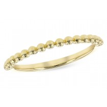 14K Yellow, White or Pink Gold Single Row Band Ring